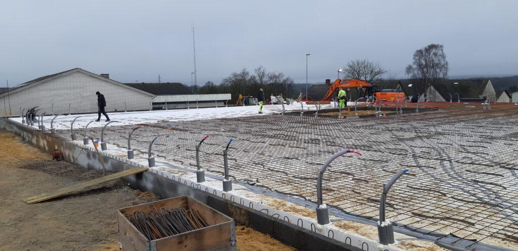Klar til at støbe betongulv