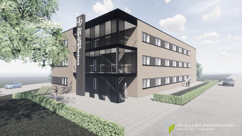 Visualisering af nyt skolehjem til DjH